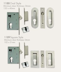 Euro Lock Kits for Sliding Doors