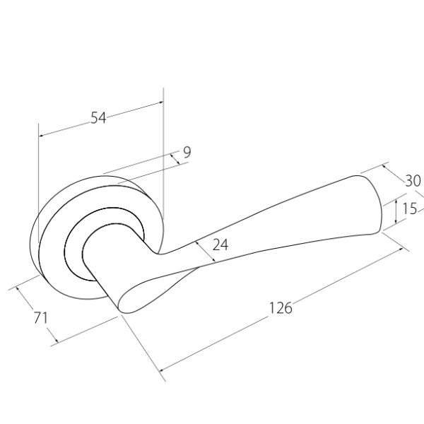 Helix door handle diagram