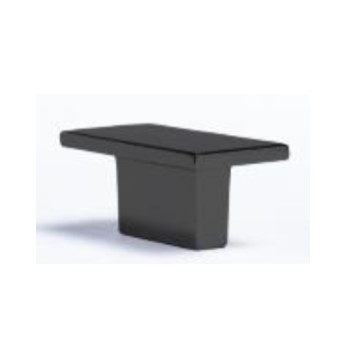 Wodonga Matt Black Kitchen Knob Handle
