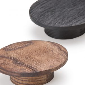 Moon Cabinet Handles - Timber