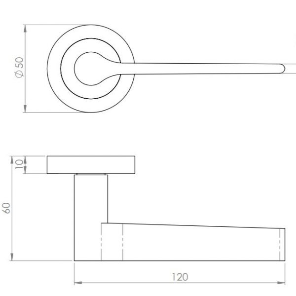 Sydney Lever Handle Dimensions